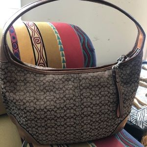 Coach vintage hobo leather